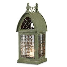 Glass Panel Architectural Tealight Lantern - Durham