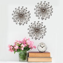 Gold Burst Wall Décor - Set of 3