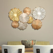 Multi-Metallic Circles Wall Décor