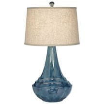 Aquamarine Ceramic Table Lamp