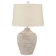 White Circles Table Lamp
