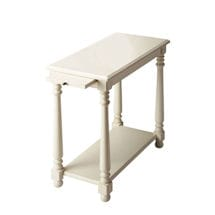 Cottage White Chairside Table