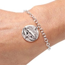 Sterling Silver Personalized Pet Nose Print Bracelet