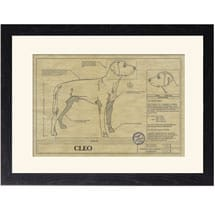 Personalized Framed Dog Breed Architectural Renderings - Rhodesian Ridgeback