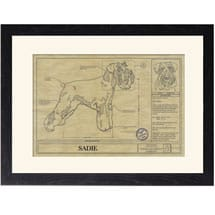 Personalized Framed Dog Breed Architectural Renderings - Miniature Schnauzer