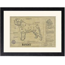 Personalized Framed Dog Breed Architectural Renderings - Bouvier Des Flanders