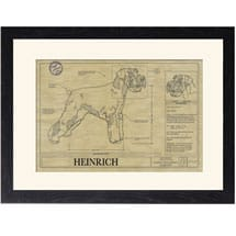 Personalized Framed Dog Breed Architectural Renderings - Giant Schnauzer