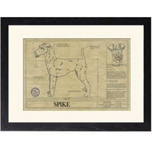 Personalized Framed Dog Breed Architectural Renderings - Irish Terrier
