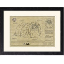 Personalized Framed Dog Breed Architectural Renderings - Pekingese