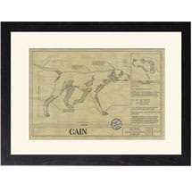 Personalized Framed Dog Breed Architectural Renderings - Pointer