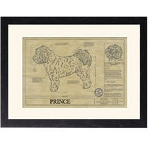 Personalized Framed Dog Breed Architectural Renderings - Tibetan Terrier