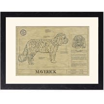 Personalized Framed Dog Breed Architectural Renderings -Shih-Poo