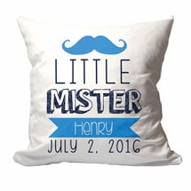 Personalized Little Mister Pillow