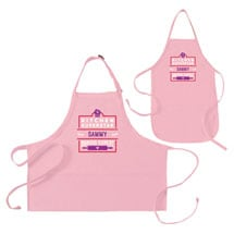 """Personalized Pink """"Kitchen Superstar"""" Mommy and Me Apron Set"""