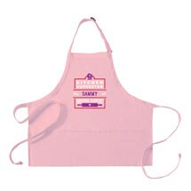 """Personalized Adult's Pink """"Kitchen Superstar"""" Apron"""