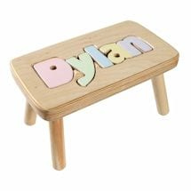 Personalized Children's Wooden Puzzle Stool - 9-12 Letters