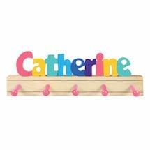 Personalized Children's Wooden Coat Rack - 7-12 Letters