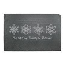 Personalized Snowflakes Slate Cheese Board
