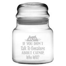 Personalized Catnip Treat Glass Jar