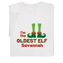 "Personalized ""Oldest Elf"" Shirt"