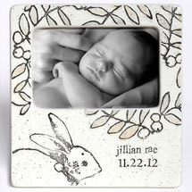 Handmade Ceramic Baby Bunny Photo Frame
