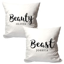 Personalized Beauty & Beast Pillow Set