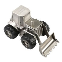 Personalized Construction Vehicle Piggy Bank