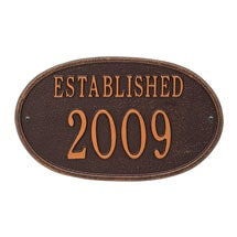 "Personalized ""Established"" Plaque"