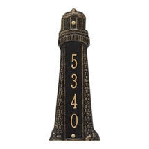 Personalized Lighthouse Address Plaque