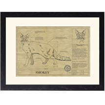 Personalized Framed Cat Breed Architectural Renderings - Balinese