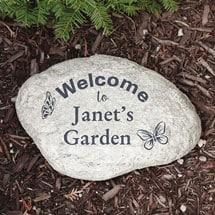 Personalized Butterfly Garden Stone