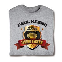 "Personalized ""Your Name"" Living Legend Series - Grill Master Tee"