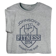 """Personalized """"Your Name"""" Fitness Gym Tee"""
