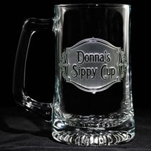 "Personalized ""Sippy Cup"" Beer Mug"