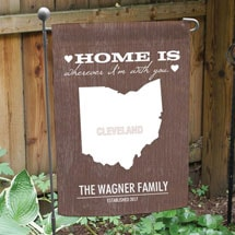 Personalized Home State Garden Flag