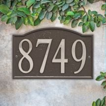 Personalized DIY Cast Metal Arch Address Plaque