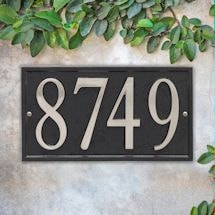 Personalized DIY Cast Metal Rectangle Address Plaque