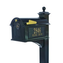 Whitehall Balmoral Monogram Mailbox and Post Package