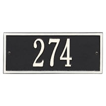 """Whitehall Personalized Cast Metal Address Plaque - 10.5"""" x 4.25"""" - Allows Special Characters"""