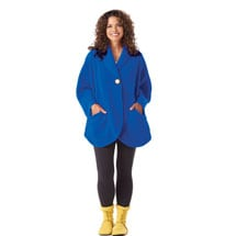 Fleece Pocket Cape - Marine