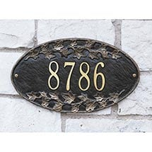 Personalized Address Plaque - Ivy Wall Plaque