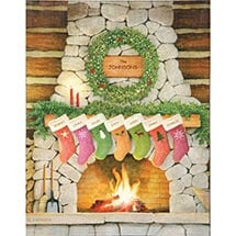 Personalized Family Christmas Wall Art - Large
