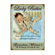 Personalized Lucky Babies Sign - Blue