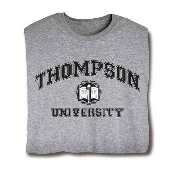 Personalized your name university shirt black at signals for University t shirts with your name