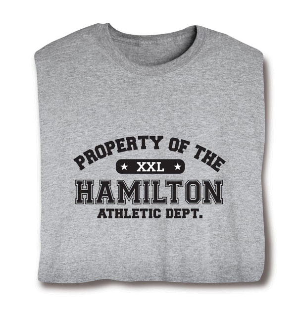 Personalized Property of Your Name XXL T-Shirt at Signals | CR1538