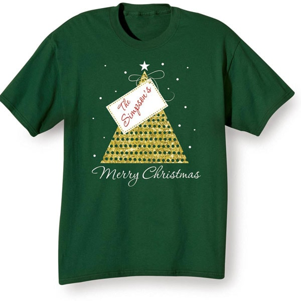 Custom Text ColorsWording Personalized Name Christmas one piece or Shirt