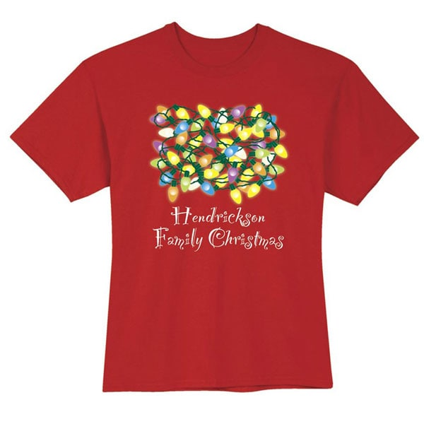 Family Christmas Shirts.Personalized Your Name Family Christmas Shirt