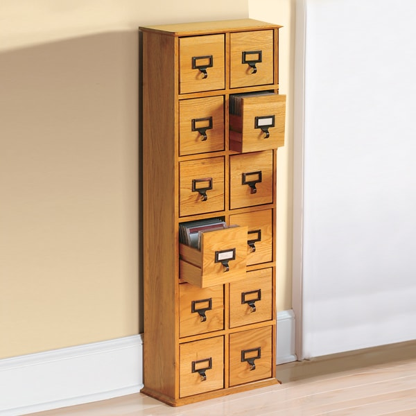 Library CD Storage Cabinet - 12 Drawers : cd drawer cabinet - Cheerinfomania.Com