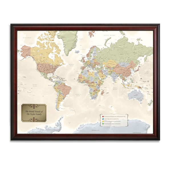 Personalized World Traveler Map Set Framed with Pins on puma map, jcpenney map, at&t wireless map, home depot map, world map, old navy map, target map, skype map, apple store map, frontgate map,