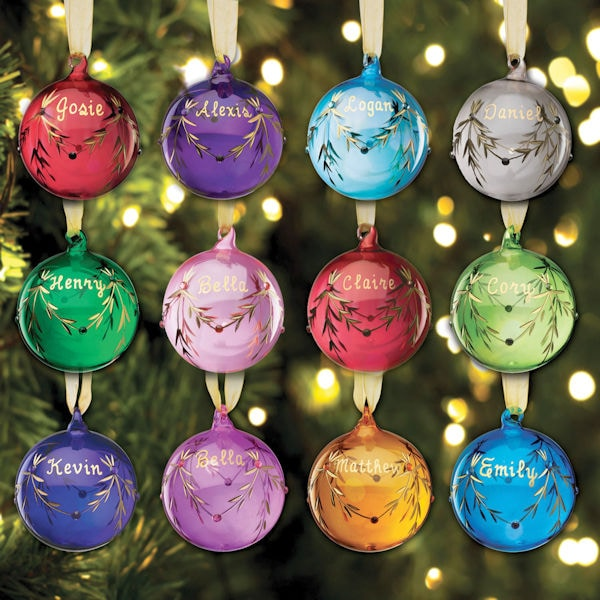 Personalized Birthstone Glass Ornament 1 Review 5 Stars Signals Hah052